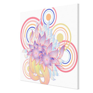 Flower Designs Canvas Print