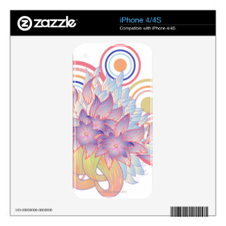 Flower Designs Skins For The iPhone 4