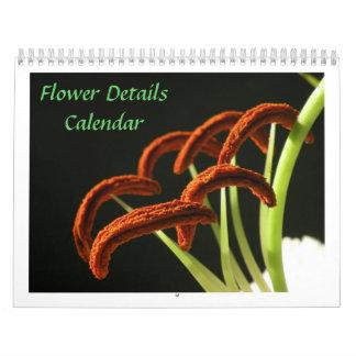 Flower Details 2012 Calendar