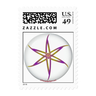 FLOWER DISC png Postage Stamps
