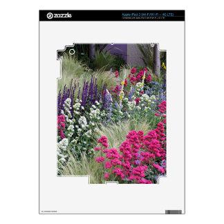 Flower display in garden decal for iPad 3