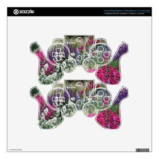 Flower display in garden decal for PS3 controller