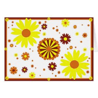 Flower Diwali Card