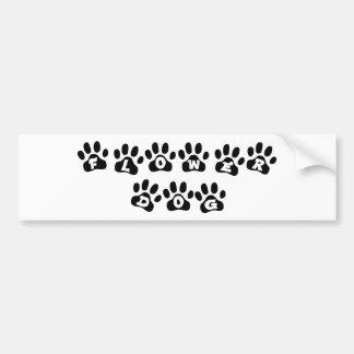 Flower Dog Bumper Sticker