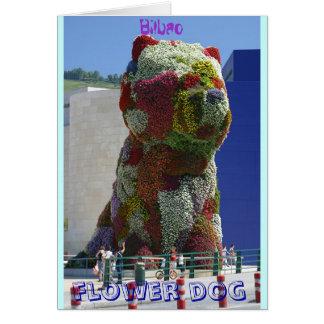 Flower dog card