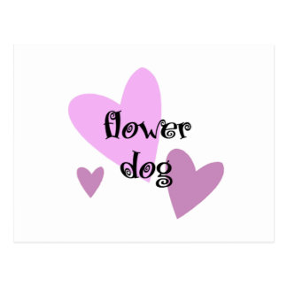 Flower Dog Postcard