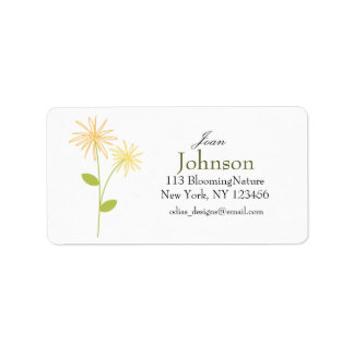 flower doodle address labels