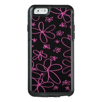Flower Doodle Pink Otterbox Iphone 6/6s Case by Conspurgatory at Zazzle