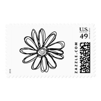 Flower doodle postage