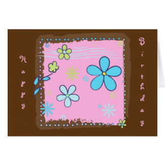 Flower Doodles Card