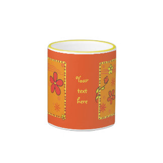 Flower Doodles Ringer Coffee Mug