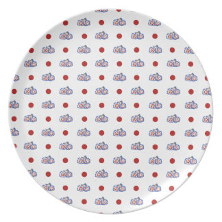 flower dots plates