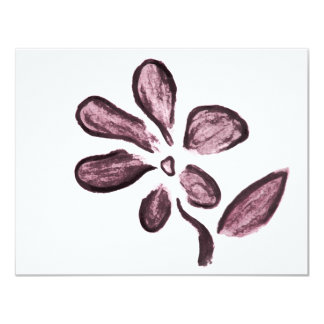 Flower drawing card