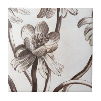 Flower Drawing Ceramic Tile
