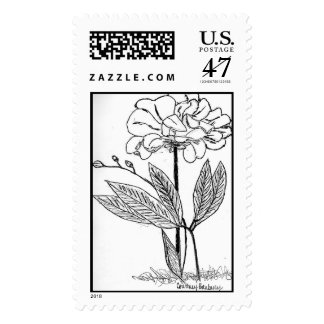 Flower Drawing Postage
