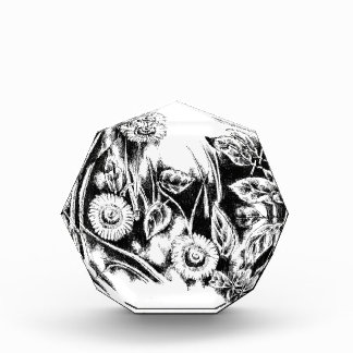 Flower drawing sketch art handmade acrylic award