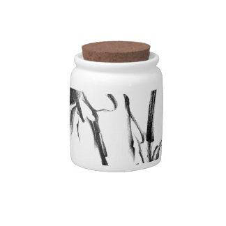 Flower drawing sketch art handmade candy jar