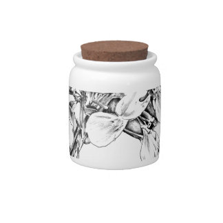 Flower drawing sketch art handmade candy jar