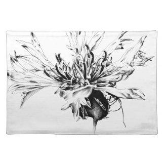 Flower drawing sketch art handmade cloth placemat