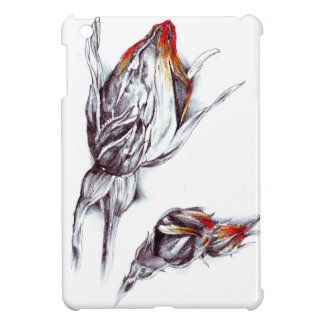 Flower drawing sketch art handmade cover for the iPad mini