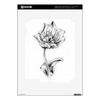 Flower drawing sketch art handmade iPad 3 decals