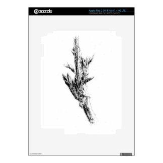 Flower drawing sketch art handmade iPad 3 skins
