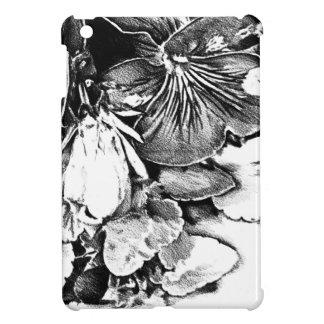Flower drawing sketch art handmade iPad mini cover