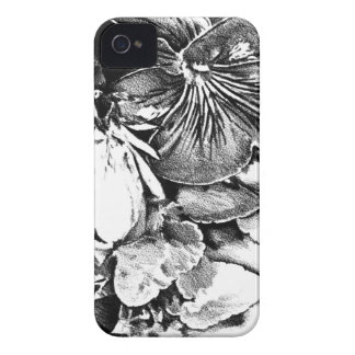 Flower drawing sketch art handmade iPhone 4 Case-Mate case