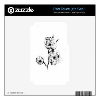 Flower drawing sketch art handmade iPod touch 4G decals