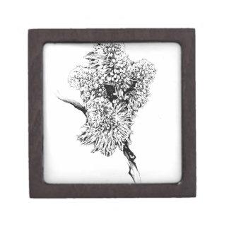 Flower drawing sketch art handmade jewelry box