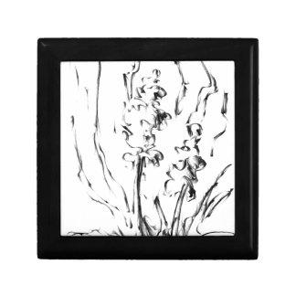 Flower drawing sketch art handmade keepsake box