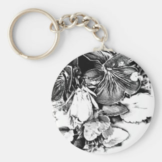 Flower drawing sketch art handmade keychain