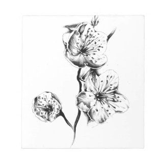 Flower drawing sketch art handmade notepad