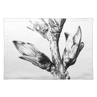 Flower drawing sketch art handmade placemat