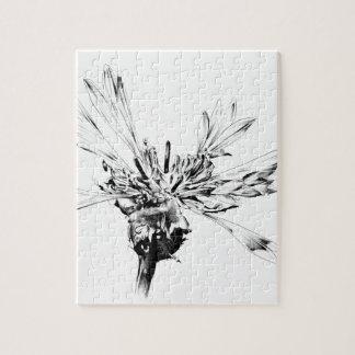 Flower drawing sketch art handmade jigsaw puzzle