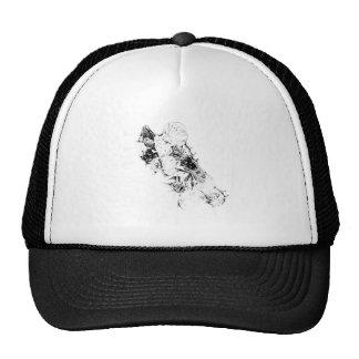 Flower drawing sketch art handmade trucker hat