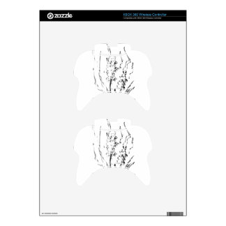 Flower drawing sketch art handmade xbox 360 controller decal