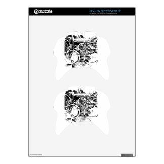 Flower drawing sketch art handmade xbox 360 controller skin