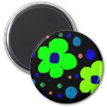 Flower drawing with dots magnet