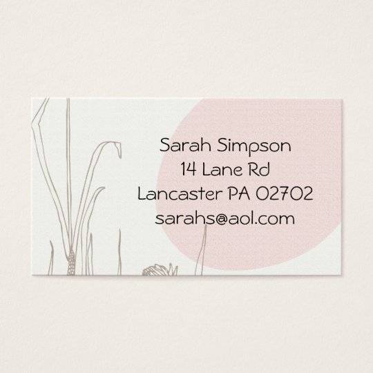 flower drawn business cards