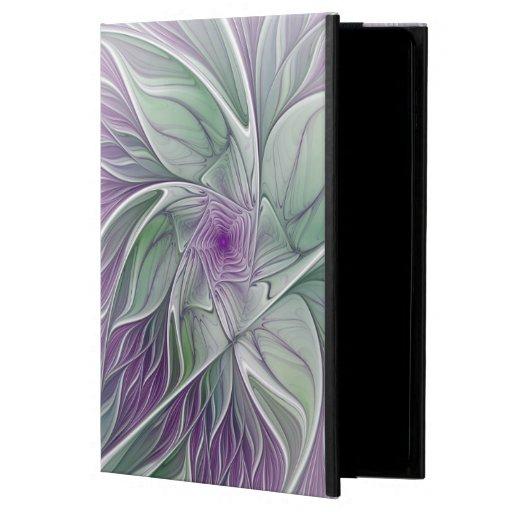Flower Dream, Abstract Purple Green Fractal Art Powis iPad Air 2 Case