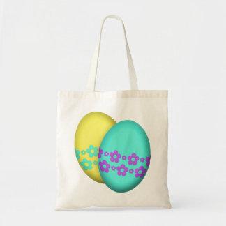 Flower Easter Egg Duo Tote Bag