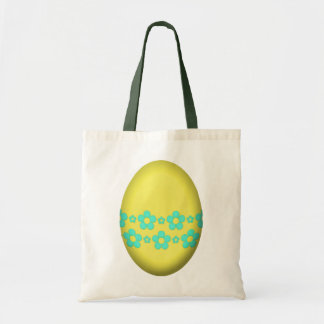 Flower Easter Egg (Yellow) Tote Bag