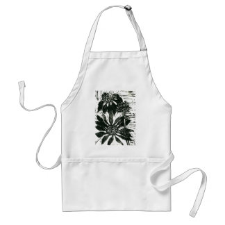 Flower Echinacea - block print Adult Apron