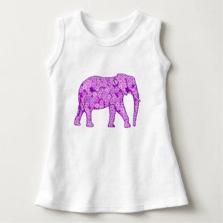 Flower elephant - amethyst purple dress