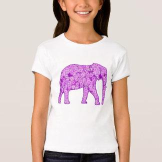 Flower elephant - amethyst purple T-Shirt