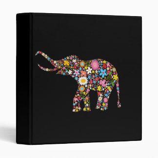 Flower Elephant 3 Ring Binder