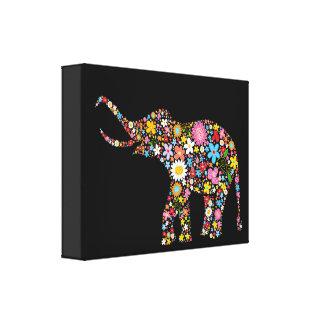 Flower Elephant Canvas Print