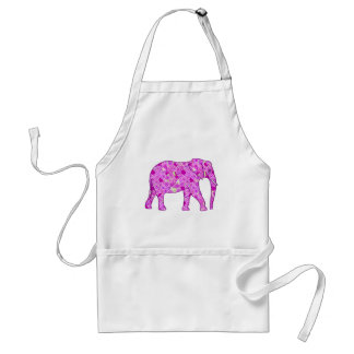 Flower elephant - orchid and magenta adult apron