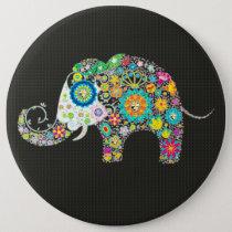 Flower Elephant With Diamond Studs Button